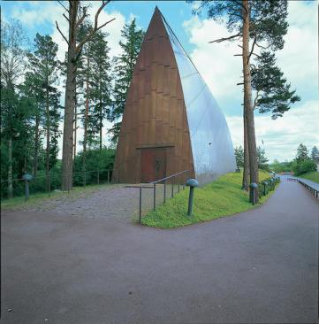 Here, St. Henry's Ecumenical Art Chapel in Turku, Finland, by Sanaksenaho Architects.