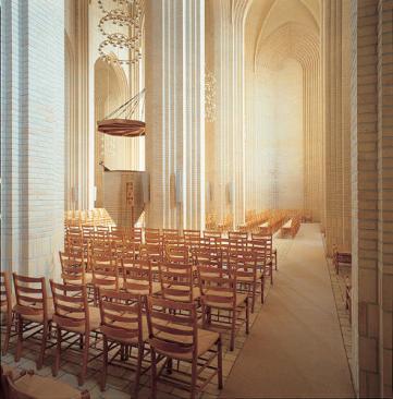 Grundtvigs Church, Copenhagen, Denmark, 1940, by Peder Vilhelm.