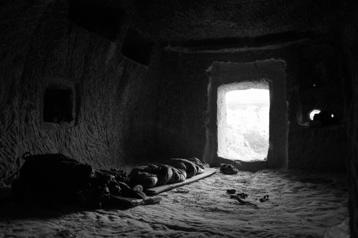 He slept in a cave in Cappadocia during his Oslo-Beirut series