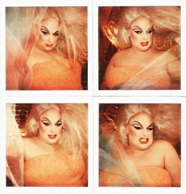 Divine, the first and legendary drag superstar of America, Polaroid,NYC 1978